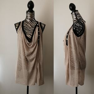 BEULAH luxury cotton Drapey tank blouse
